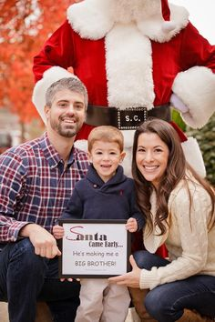 Delightful Pregnancy Announcement For Christmas With Santa. 2nd Pregnancy  AnnouncementsChristmas Card ...