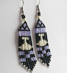 We sell handmade authentic native art and crafts made by the Tłı̨chǫ, including First Nations and artists from the Northwest Territories. Seed Bead Jewelry, Seed Bead Earrings, Fringe Earrings, Beaded Earrings, Seed Beads, Beaded Jewelry, Drop Earrings, Crafts To Make, Arts And Crafts