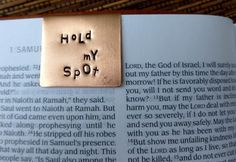 Hand Stamped Copper Bookmark - Hold My Spot -