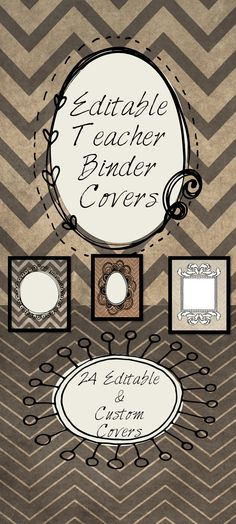 Free for a limited time! These sophisticated, yet fun and whimsical binder covers and classroom signs will be just what you need to keep yourself and your classroom organized! For the elementary, middle or high school teacher! You will receive 24 different pages that are all editable and customizable to fit you!