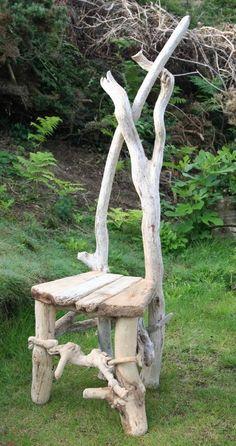 Driftwood Chair, Feature character Chair, Drift wood Furniture, Garden Chair, UK