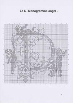 "Photo from album ""алфавит"" on Yandex. Monogram Cross Stitch, Cross Stitch Alphabet, Cross Stitch Samplers, Counted Cross Stitch Patterns, Cross Stitch Charts, Cross Stitching, Cross Stitch Embroidery, Stitch And Angel, Cross Stitch Angels"