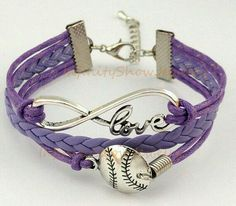 Want this softball bracelet in white!