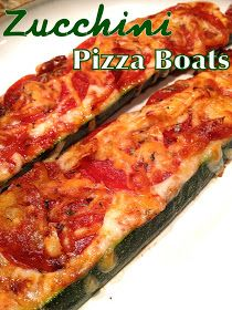 Zucchini Pizza Boats ~ Just done this tonight for supper , I honestly didn't think it would be good ! But oh my it was so fulfilling :)