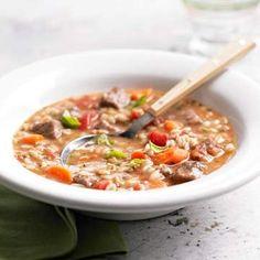 Basil, Beef, and Barley Soup