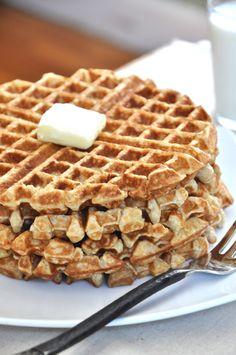 Toasted Oatmeal & Honey Waffles. Everyone really liked these!
