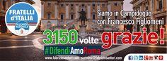 3150 VOLTE GRAZIE!! Siamo in Campidoglio con Francesco Figliomeni #Difendiamo Roma