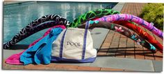 Nicki Noodles are fun, fashionable, removable, washable, designer pool noodle covers.