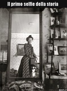 """Vintage Quite possibly the world's oldest """"selfie,"""" taken by this Edwardian woman in 1900 with a Kodak Brownie box camera. - Selfies have become so popular, the word was."""