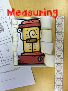 Camping Math Stations- nonstandard measuring with marshmallows. - - Camping Math Stations- nonstandard measuring with marshmallows. Preschool Themes, Preschool Lessons, Preschool Classroom, Kindergarten Math, Classroom Themes, Elementary Math, Math Lessons, Camping Activities, Preschool Activities