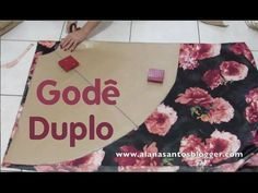 Como dobrar o tecido pra cortar saia godê longa e saia curta sem costuras laterais. Aula 73 - YouTube Sewing Hacks, Sewing Tutorials, Sewing Projects, Dress Sewing Patterns, Clothing Patterns, Myanmar Dress Design, Wedding Mehndi Designs, Red Band, Patch Quilt