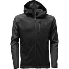Can't decide between your fleece and your softshell? The North Face Men's Tenacious Hybrid Hooded Fleece Jacket combines the best of both worlds to offer optimal comfort and performance for all your cool weather excursions. Hardface fleece throughout the body keeps your core warm and shields you from chilly breezes, while softshell panels at the hood, shoulders, and sleeves add durability and weather protection where you need it most without affecting mobility. It also has a DWR coating to…