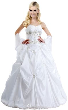 FairOnly Halter White Formal Prom Gown Quinceanera Dresses Size 6 8 10 12 14 16