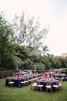 Navy, Fuchsia & Gold Wedding
