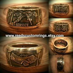 Available NOW, ONLY @ www.reedscustomrings.etsy.com #firefighter #firefighters #EMT #firstresponder #rescue #fireandrescue #firefighterwife #leo #heroes #hero #usmcvet #veteranowned #usmarines #usarmy #usnavy #usairforce #USCG #badassery #veteran #reedscustomrings #teamlove #edcgear #edc #coinring #paramedic