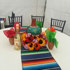 Mexican Centerpieces The Posh Pixie Mexican Party Table