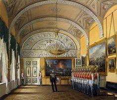 Виды залов Зимнего дворца. Зал развода караула , 1864 Гау, Эдуард Петрович