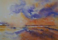 Avondrood - aquarel Watercolor, Painting, Art, Pen And Wash, Art Background, Watercolor Painting, Painting Art, Kunst, Watercolour