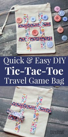 This is a quick and easy DIY Tic-Tac-Toe Travel Game Bag Tutorial. Kids will have fun with this homemade travel game bag. Fun way to play on the go! diy for kids DIY Tic-Tac-Toe Travel Game Bag Christmas Child Shoebox Ideas, Operation Christmas Child Boxes, Kids Christmas, Homemade Christmas, Homemade Kids Toys, Easy Homemade Gifts, Homemade Paint, Diy Gifts For Kids, Diy For Kids