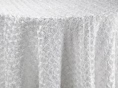White Corsage Table Linen