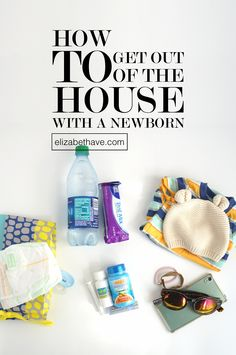 How to Get Out of the House with a Newborn | It will keep you healthy and happy to try and get out of the house with your newborn. Let me show you how with some simple tips and purse essentials to get you through the busiest of days. From ChapStik Total Hydration and Emergen-C Immune+ Chewables for your health, to Infant Advil for baby, find out all my top diaper bag essentials! #BeHealthyForEveryPartofLife #CollectiveBias #ad | www.elizabethave.com