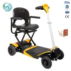 4 wheel used adult foldable raycool electric scooter