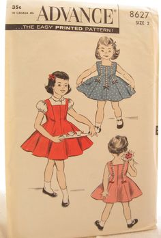 1950s Princess Dress Vintage Child's Pattern Advance by EmSewCrazy