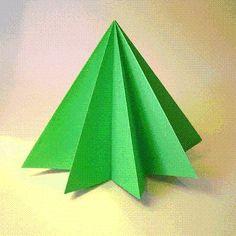 DIY Origami: DIY Origami Pine Tree