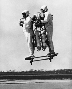 letsdolaunch:  Jet Pack for Two, 1967 by Unknown Photographer