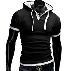 T Shirt Men Brand 2017 Fashion Men'S Hooded Collar Sling T Shirt Men Short Sleeve Slim Male Tops Large Size 4XL QSP   Read more at Bargain Paradise : http://www.nboempire.com/products/t-shirt-men-brand-2017-fashion-mens-hooded-collar-sling-t-shirt-men-short-sleeve-slim-male-tops-large-size-4xl-qsp/                                         Asia Size Russia Size USA/EU...