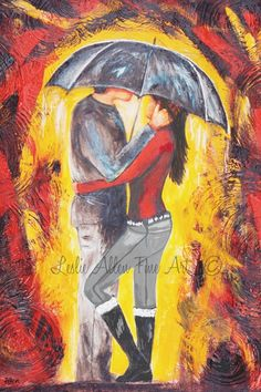 Couple Art Print Couples Couple Theme by LeslieAllenFineArt