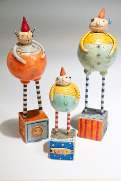 roly poly monsters [Lynn - you and I are arm and arm with the whimsy we love!]
