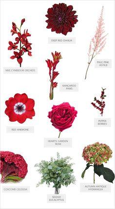 fall wedding bouquet diy recipe #bouquet #diybouquet #weddingchicks http://www.weddingchicks.com/2014/03/06/red-wedding-bouquet/