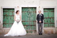 shabby wedding doors