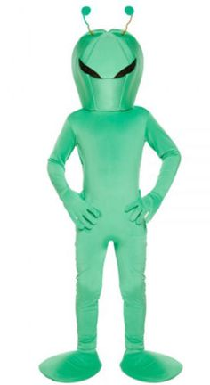 Kids #unisex alien green costume #halloween horror area 51 book day #rocket space, View more on the LINK: http://www.zeppy.io/product/gb/2/321865396473/