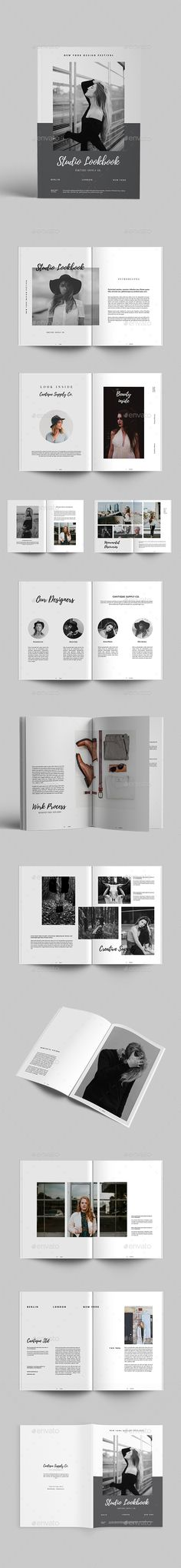 Studio Lookbook 24 Pages Template InDesign INDD - A4 + US Letter Size
