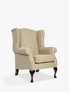 Parker Knoll Oberon Armchair, Sandringham Check at John Lewis & Partners Parker Knoll Chair, Living Room Chairs, Lounge Chairs, Wing Chair, Curtains With Blinds, Farmhouse Furniture, Modern Country, Queen Anne, Armchair