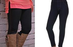 Fleece Lined Denim Ankle Leggings S-XL 61% off at Groopdealz