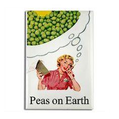 Peas On Earth Fridge Rectangle Magnet > Funny Fridge Magnets > Cafe Pretzel T-Shirts & Gifts