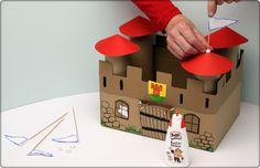 Castillo de los caballeros #cardboard #castle