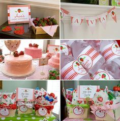 Strawberry Party Invitations Professionally printed by Chickabug