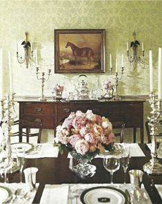 Equestrian Shabby Dining Room A Little Too Formal But Great Inspiration