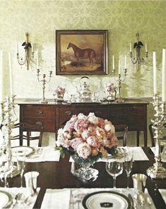 Fancy equestrian dining room
