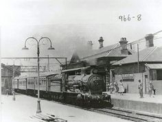 Blacktown Station with a Class Locomotive - 1955 was the year since the Redfern to Parramatta Service. Blacktown Station has changed immeasurably in just 60 years, far more so than the preceding 60 to State Records NSW. Old Pictures, Old Photos, Vintage Photos, The Old Days, Historical Architecture, Historical Pictures, Sydney Australia, Places To Visit, World
