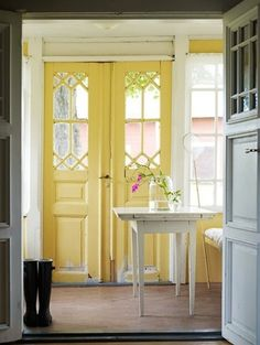 Sweet yellow doors