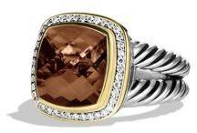 David Yurman Albion Ring with Diamonds and Gold - $1,575.00