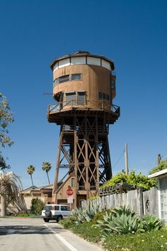 Famous landmark in Sunset Beach, California this water tower house was for sale a few years ago.