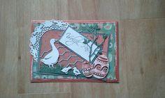 Paaskaart gemaakt tijdens een workshop bij Hobbyshop Veldmaat.