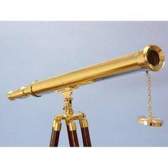 Floor Standing Brass Harbor Master Telescope 60 inch