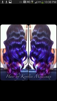 Pravana vivids,  violet hair, beautiful color, purple hair? Curly hair.